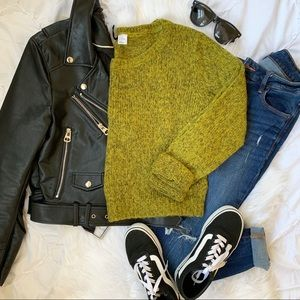 H&M Divided Green Sweater